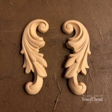 Decorative Scrolls pair Wub1320 Mål: 12*5 cm